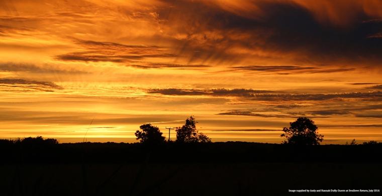 sunset medium attributed